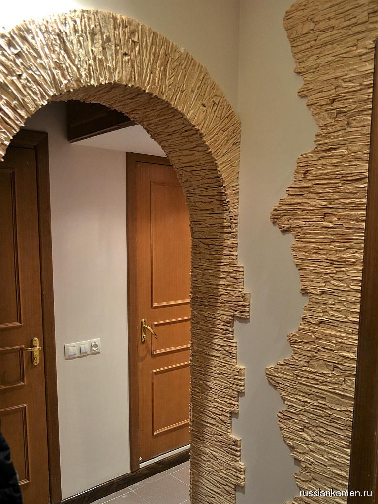 кухнях декор коридора искусственным камнем фото дальних подступах